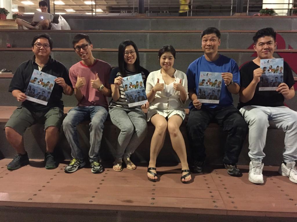 《流動人生》左起:徐偉倫、陳卓文、姚嘉穎、麥盈湘、黃金龍、謝以覺