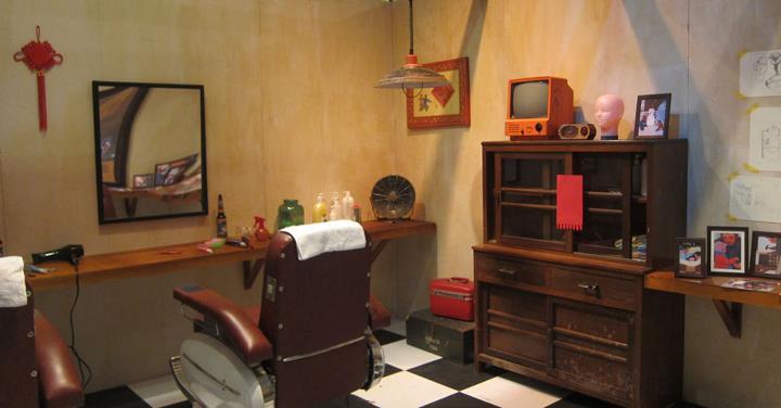《團圓》裡的理髮店一整間屹立在眼前,讓你穿梭故事的時空~