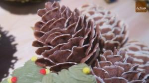松果形狀的曲奇,單看造型,想不知是豆蓉做的呢。