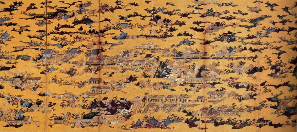 洛中洛外屏風圖 (左) (圖片來源﹕互聯網)
